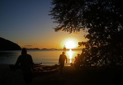 sunset at Maho 400x